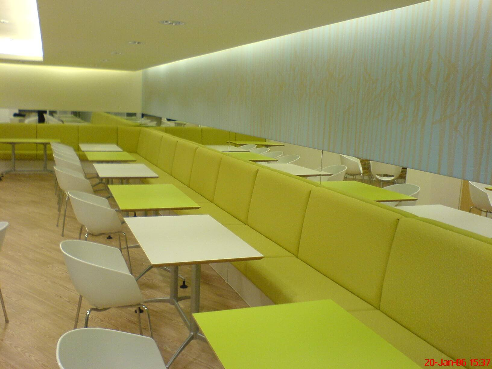 Seating in cafe